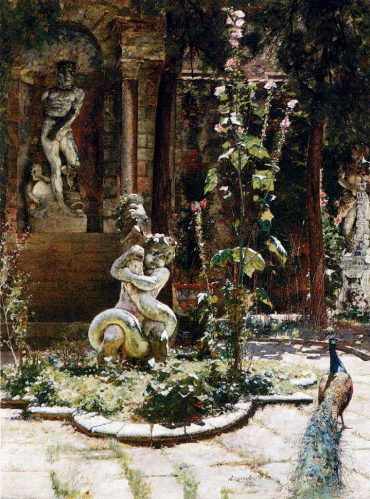 William Logsdail The Garden Of The Palazzo Malipiero