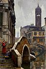 The Ponte dei Pugni, Venice, with the Campanile of Sta. Fosca beyond