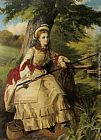 William Maw Egley - A Young Lady Fishing