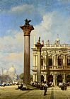 William Wilde - Figures in St Marks Square Venice