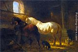 Wouter Verschuur - Horses in a Stable