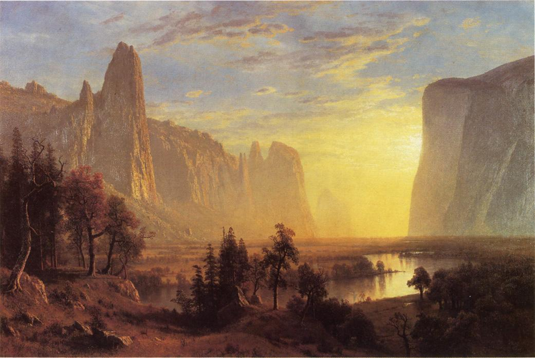 Albert Bierstadt Yosemite Valley Yellowstone Park