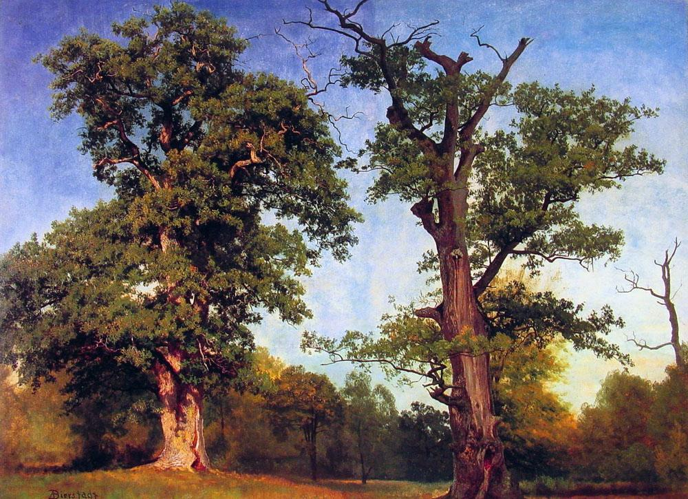 Albert Bierstadt Pioneers of the Woods