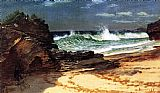 Albert Bierstadt Beach at Nassau painting