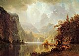 Albert Bierstadt Canvas Paintings - In the Mountains