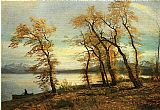 Lake Canvas Paintings - Lake Mary California