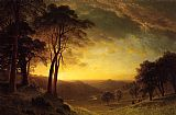 Albert Bierstadt Canvas Paintings - Sacramento River Valley