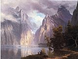 scene Canvas Paintings - Scene in the Sierra Nevada