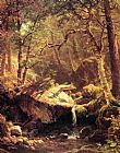 Albert Bierstadt Canvas Paintings - The Mountain Brook