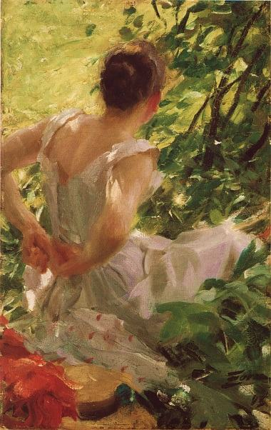 Anders Zorn Woman dressing