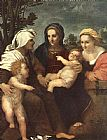 Andrea del Sarto Madonna and Child with Sts Catherine painting