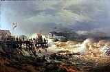 Famous Coast Paintings - Storm at Dutch Coast