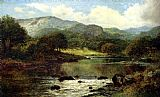 Famous River Paintings - A Wooded River Landscape