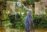Berthe Morisot - Peasant Hanging out the Washing