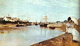 Berthe Morisot The Harbor at Lorient painting