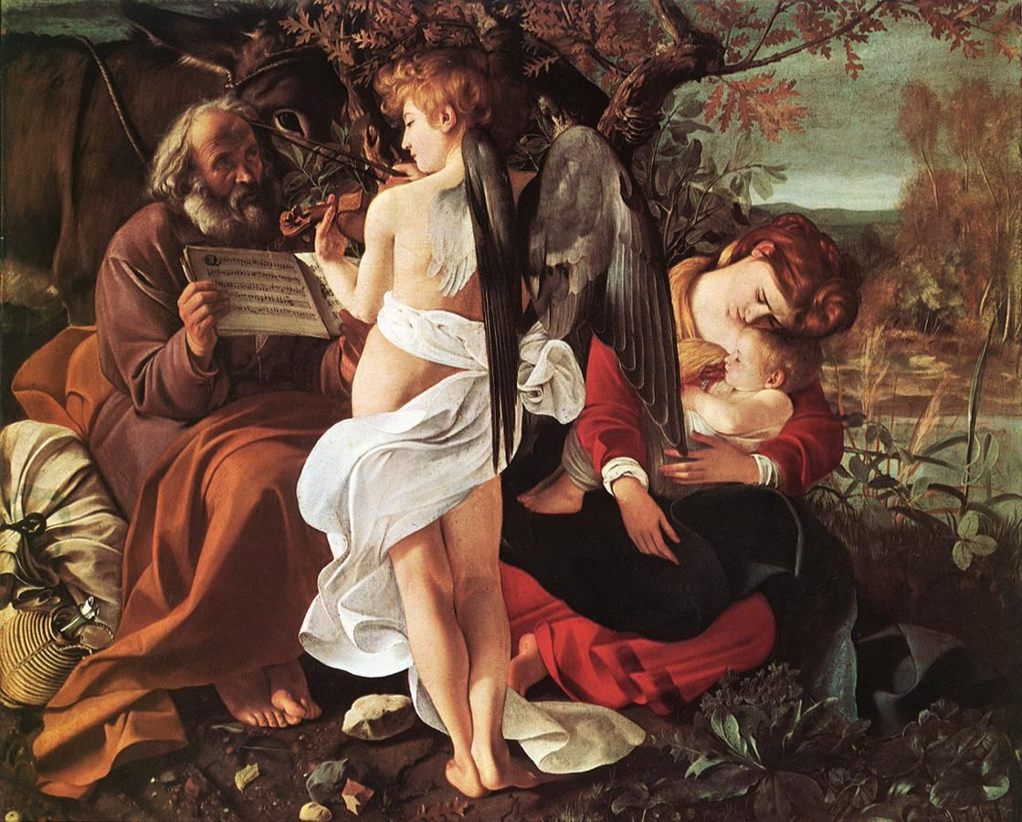 Caravaggio Rest on Flight to Egypt
