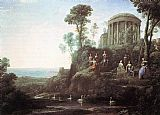 Mount Canvas Paintings - Apollo and the Muses on Mount Helion