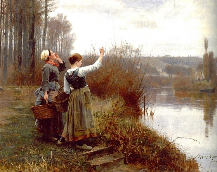 Daniel Ridgway Knight Hailing the Ferry