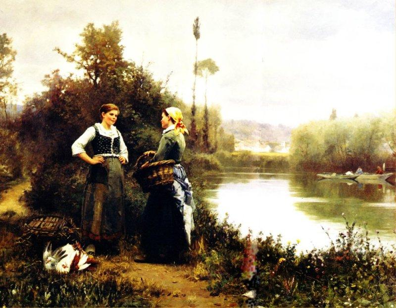 Daniel Ridgway Knight On the Way to Market