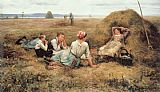 rest Canvas Paintings - The Harvesters Resting