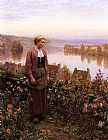 Daniel Ridgway Knight - A Garden above the Seine, Rolleboise
