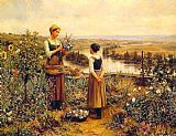 king Canvas Paintings - Picking Flowers