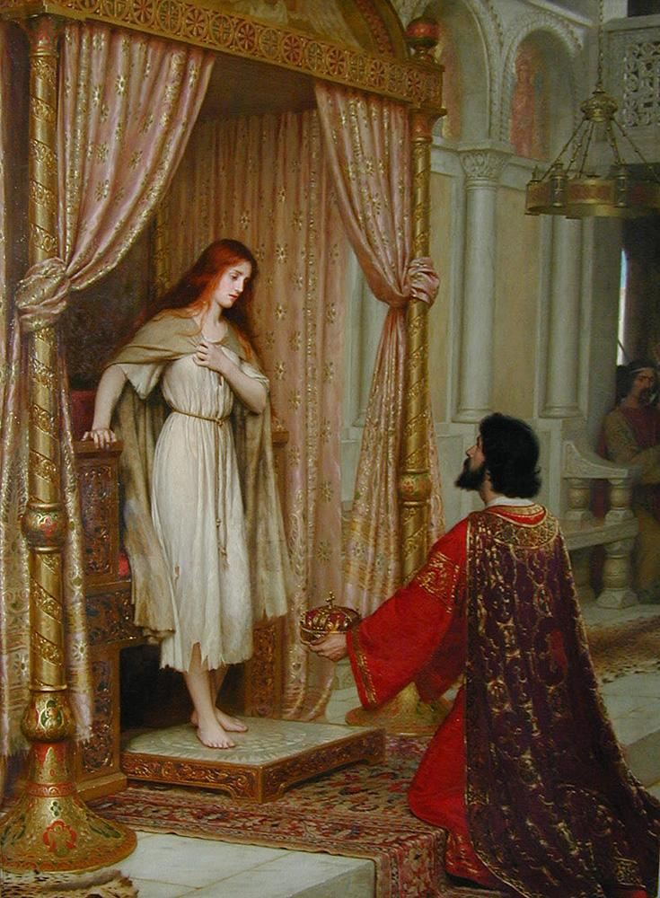 Edmund Blair Leighton The King and the Beggar-maid
