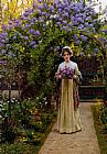 Edmund Blair Leighton Lilac painting