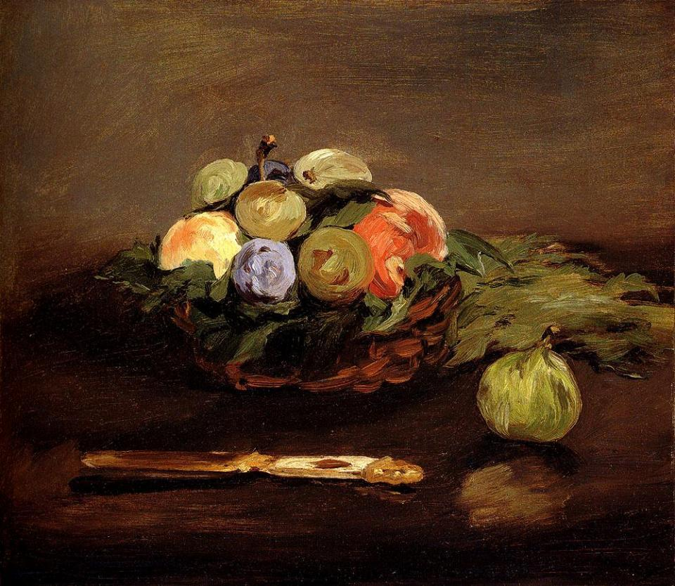 Edouard Manet Basket Of Fruit