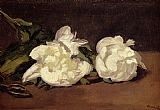 Edouard Manet - Branch Of White Peonies With Pruning Shears