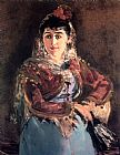 Edouard Manet Canvas Paintings - Portrait of Emilie Ambre in the role of Carmen