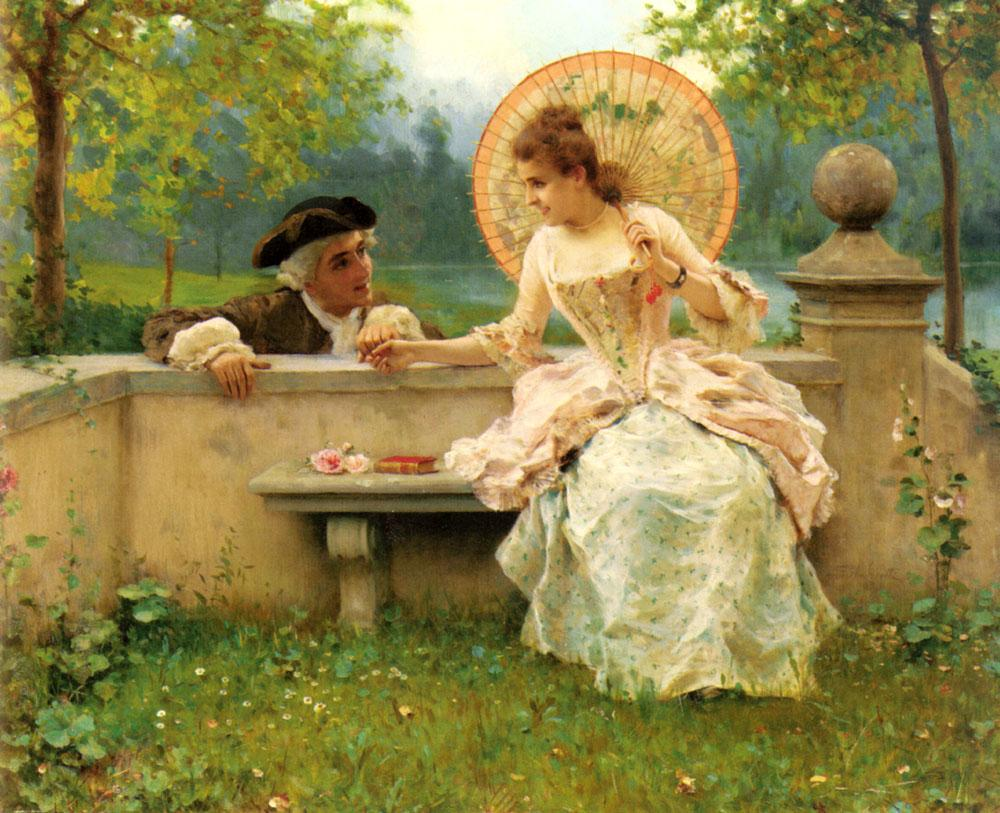 Federico Andreotti A Tender Moment in the Garden