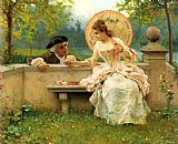 Federico Andreotti A Tender Moment in the Garden painting