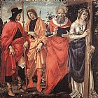 Filippino Lippi Four Saints Altarpiece painting