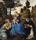 Famous Virgin Paintings - The Virgin and Child with Sts
