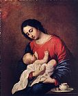 Child Canvas Paintings - Madonna with Child
