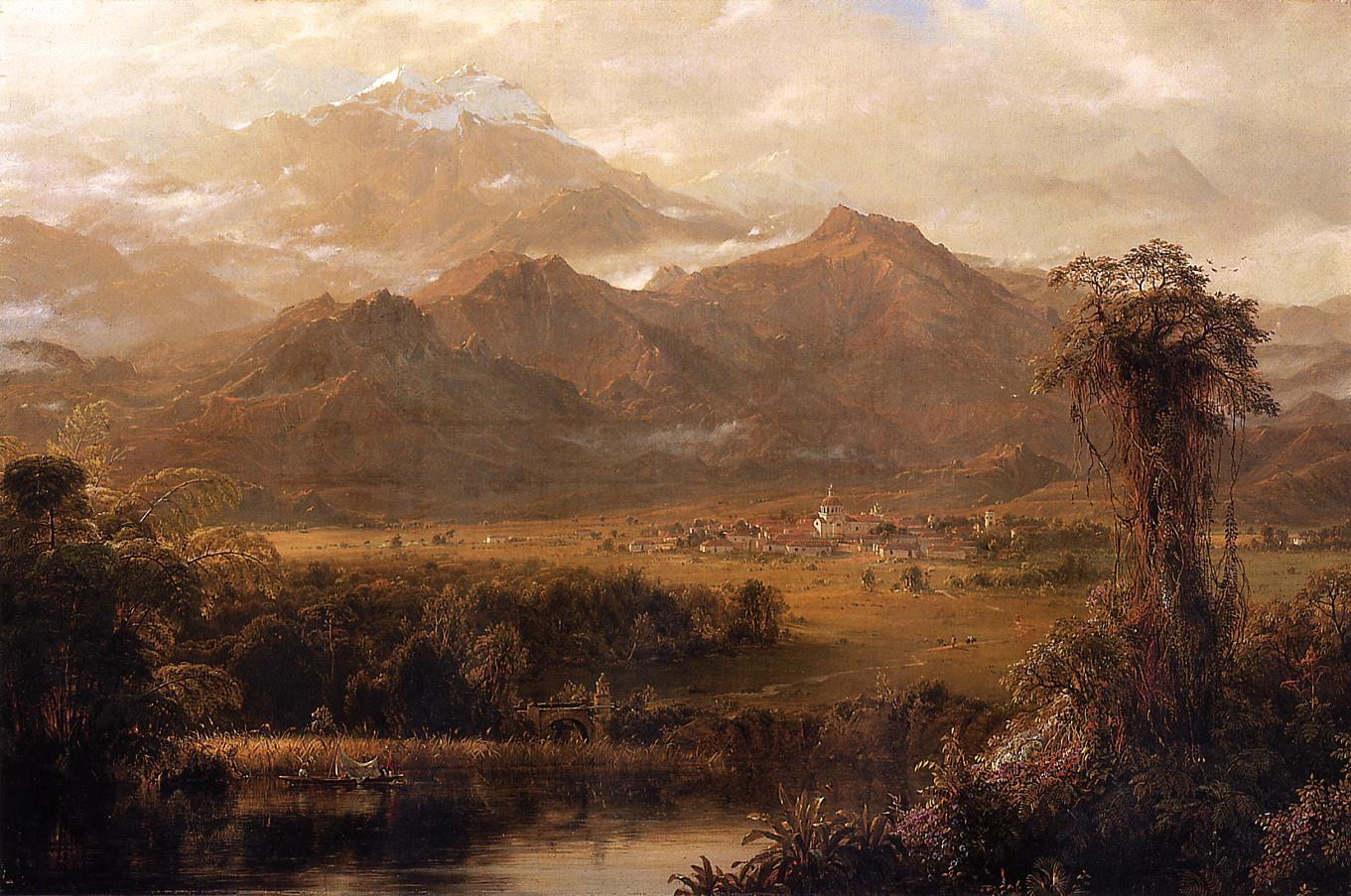 Frederic Edwin Church Mountains of Ecuador