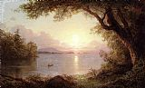 Frederic Edwin Church Landscape in the Adirondacks painting