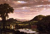 Frederic Edwin Church New England Landscape painting