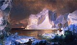 Frederic Edwin Church Canvas Paintings - The Icebergs