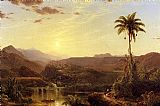 Frederic Edwin Church Canvas Paintings - The Cordilleras Sunrise