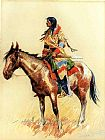 Frederic Remington A Breed painting