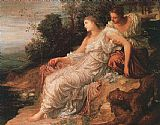 Island Canvas Paintings - Ariadne on the Island of Naxos