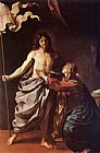Christ Canvas Paintings - Apparition of Christ to the Virgin