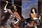 king Canvas Paintings - Saul Attacking David