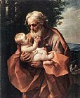 Guido Reni St Joseph with the infant Jesus painting