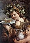 Guido Reni The Boy Bacchus painting