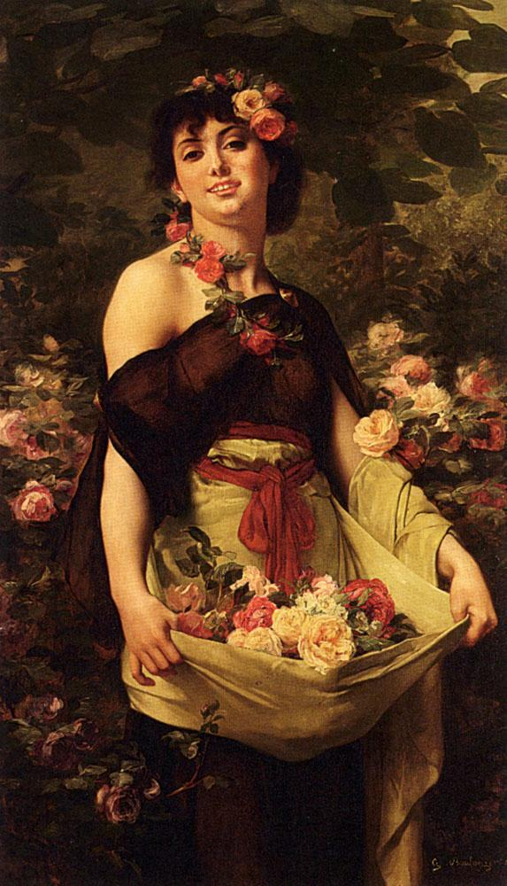 Gustave Clarence Rodolphe Boulanger The Flower Girl