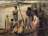 Market Canvas Paintings - The Slave Market