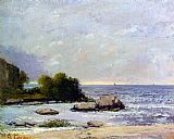 Gustave Courbet Canvas Paintings - Marine de Saint Aubin